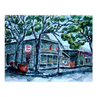 pirates house savannah georgia watercolor painting postcard