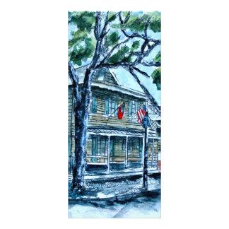 pirates house savannah georgia watercolor painting full color rack card