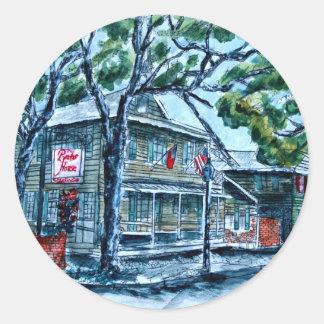 pirates house savannah georgia watercolor painting sticker