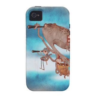 Pirates. Imagination and fantasy, cute and lovely. Case-Mate iPhone 4 Carcasas
