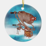 Pirates. Imagination and fantasy, cute and lovely. Double-Sided Ceramic Round Christmas Ornament
