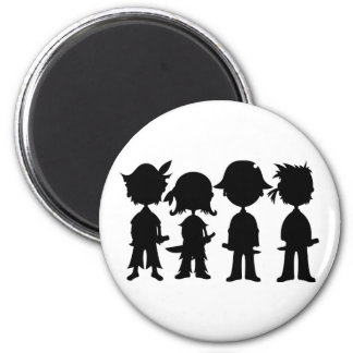 Pirates in Silhouette Magnet