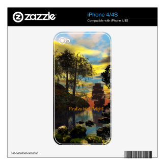 Pirates Inlet Delight Decals For The iPhone 4S
