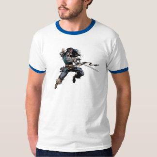 Pirates Jack Sparrow aiming a knife T-Shirt