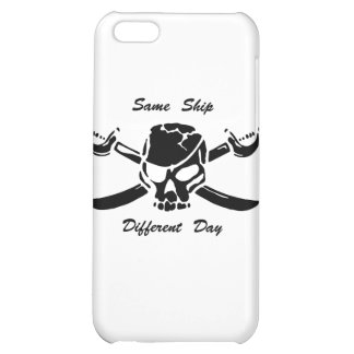 Pirates Jolly Roger Same Ship Different Day Case For iPhone 5C