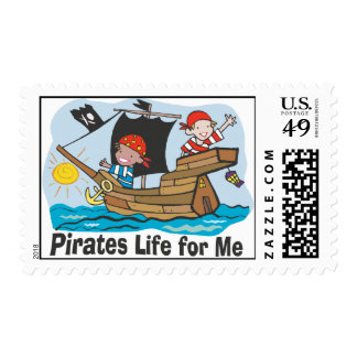 Pirates Life for Me Postage