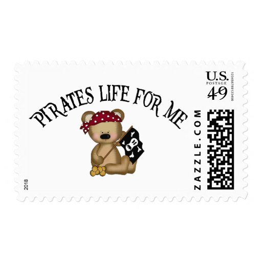 Pirates Life For Me Postage Stamp