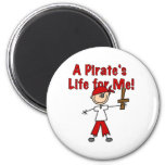 Pirate's Life for Me Refrigerator Magnets