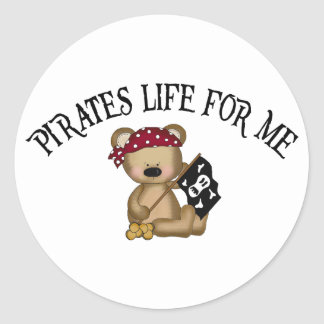 Pirates Life For Me Round Stickers