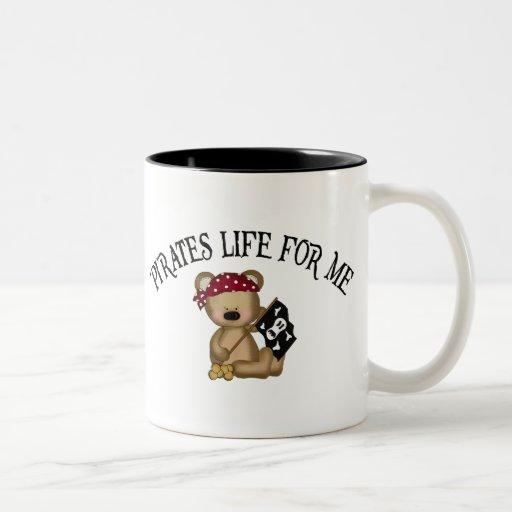 Pirates Life For Me Two-Tone Coffee Mug