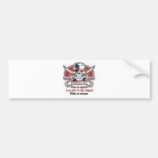 Pirates Life - Live Life To The Fullest Bumper Sticker