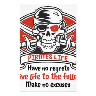Pirates Life - Live Life To The Fullest Stationery