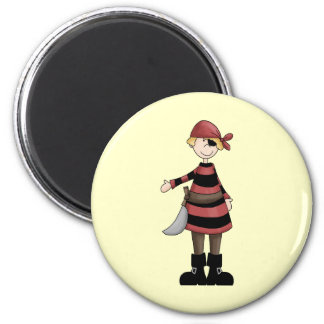 Pirates Mate 2 Inch Round Magnet