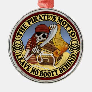 Pirate's Motto Metal Ornament