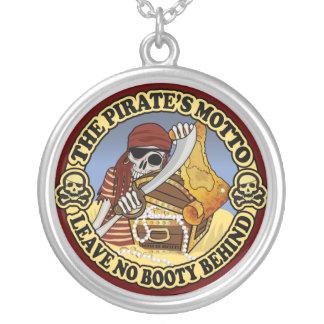 Pirate's Motto Round Pendant Necklace