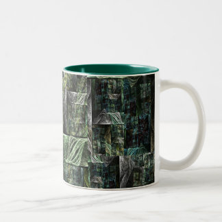 Pirates of mechanical sails Two-Tone coffee mug