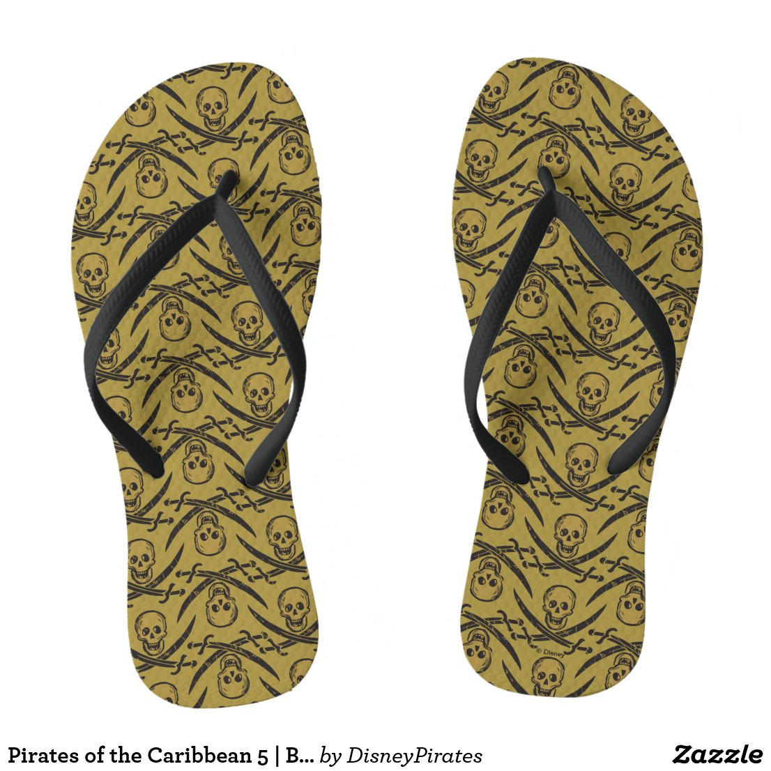 Pirates of the Caribbean 5 | Beware - Pattern Flip Flops