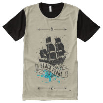 Pirates of the Caribbean 5 | Black Pearl All-Over-Print Shirt