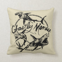 Pirates of the Caribbean 5 | Ghostly Menace Throw Pillow