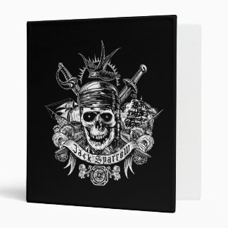 Pirates of the Caribbean 5 | Jack Sparrow Skull 3 Ring Binder