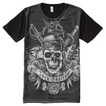 Pirates of the Caribbean 5 | Jack Sparrow Skull All-Over-Print Shirt