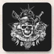 Pirates of the Caribbean 5 | Jack Sparrow Skull Beverage Coaster