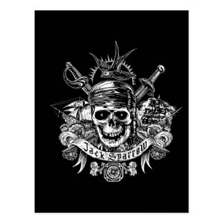 Pirates of the Caribbean 5 | Jack Sparrow Skull Postcard