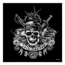 Pirates of the Caribbean 5 | Jack Sparrow Skull Poster