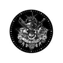 Pirates of the Caribbean 5 | Jack Sparrow Skull Round Clock