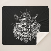 Pirates of the Caribbean 5 | Jack Sparrow Skull Sherpa Blanket
