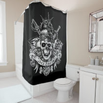 Pirates of the Caribbean 5 | Jack Sparrow Skull Shower Curtain
