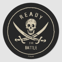 Pirates of the Caribbean 5   Ready For Battle Classic Round Sticker