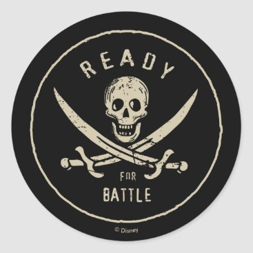 Disney Themed Pirates of the Caribbean 5   Ready For Battle Classic Round Sticker