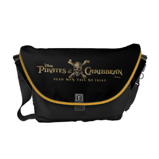 Pirates of the Caribbean 5 Skull Logo Courier Bag