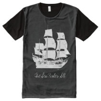 Pirates of the Caribbean 5 | The Sea Rules All All-Over-Print T-Shirt