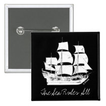 Pirates of the Caribbean 5 | The Sea Rules All Pinback Button