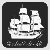 Pirates of the Caribbean 5 | The Sea Rules All Square Sticker