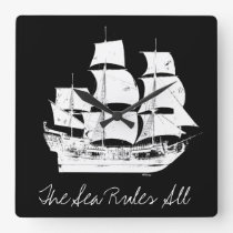 Pirates of the Caribbean 5 | The Sea Rules All Square Wall Clock