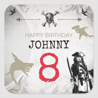Pirates of the Caribbean | Birthday Square Sticker