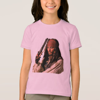 Pirates of the Caribbean Jack Sparrow with Gun T-Shirt