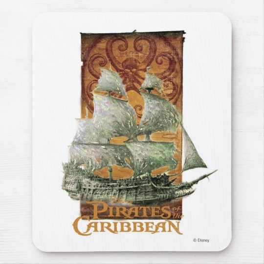 Pirates of the Caribbean Poster Art Disney Mouse Pad