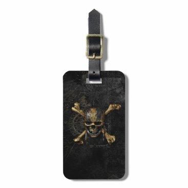Disney Themed Pirates of the Caribbean Skull & Cross Bones Bag Tag