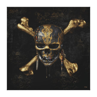 Pirates of the Caribbean Skull & Cross Bones Canvas Print