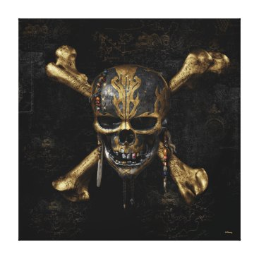 Disney Themed Pirates of the Caribbean Skull & Cross Bones Canvas Print