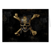 Pirates of the Caribbean Skull & Cross Bones Card