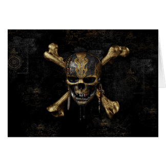Pirates of the Caribbean Skull & Cross Bones Card