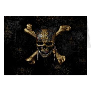 Disney Themed Pirates of the Caribbean Skull & Cross Bones Card