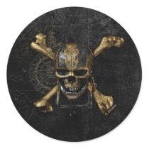 Pirates of the Caribbean Skull & Cross Bones Classic Round Sticker