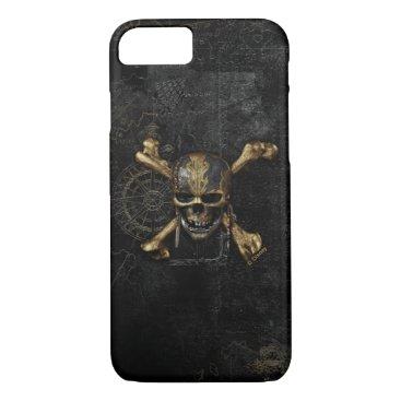 Disney Themed Pirates of the Caribbean Skull & Cross Bones iPhone 7 Case