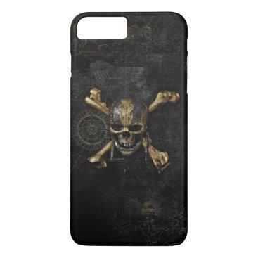 Disney Themed Pirates of the Caribbean Skull & Cross Bones iPhone 7 Plus Case